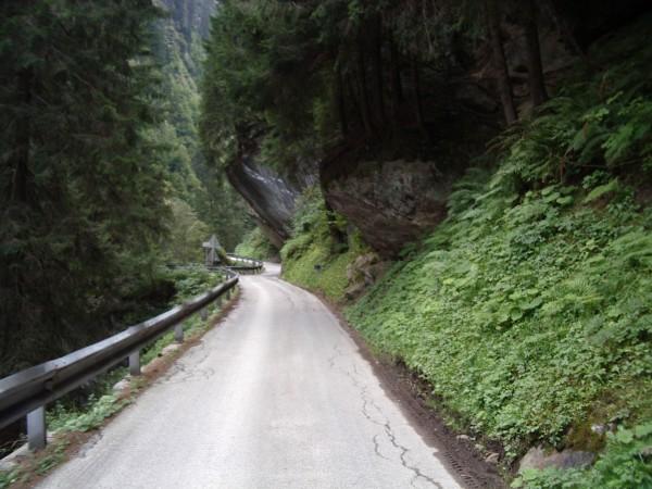 Straße durch die Dornaubergschlucht