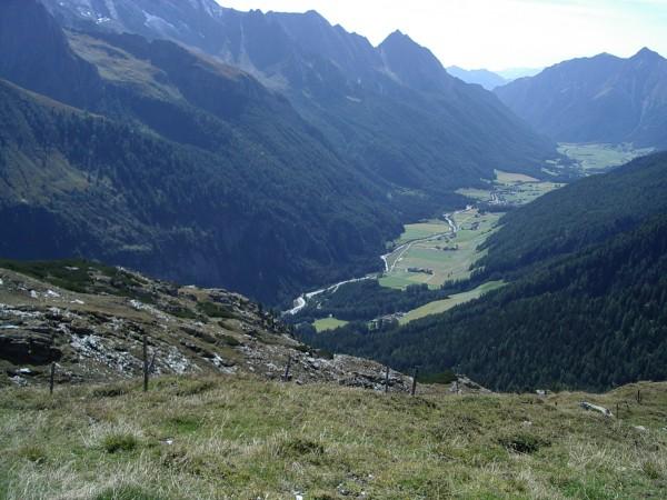 Blick vom Joch ins Pfitscher Tal