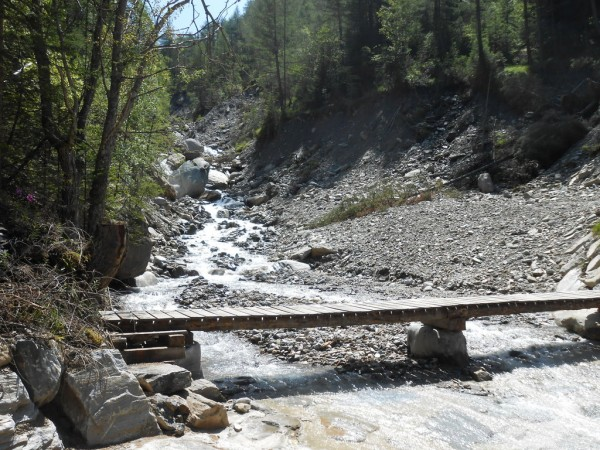 Fussgänger-Behelfsbrücke