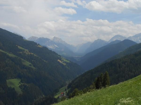 Dolomiten in Sicht